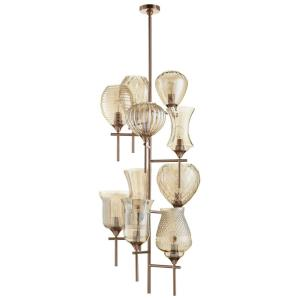 Darcey - Ten Light 10-Tier Chandelier - 21 Inches Wide by 53.5 Inches High