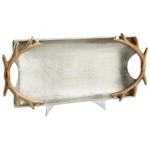 20.75 Inch Large Horn Handle Tray