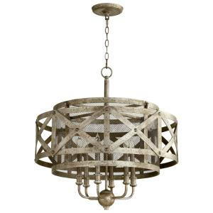 Byzantine - Six Light Pendant - 26.5 Inches Wide by 30 Inches High