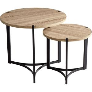 Tri - 19 Inch Nesting Table (Set Of 2)