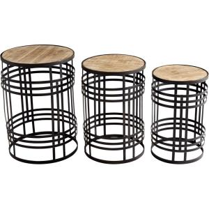 Banded About - 24 Inch Table (Set Of 3)