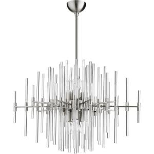 Quebec - Six Light Pendant - 30.5 Inches Wide by 25 Inches High