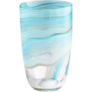 Sky Swirl - 11.75 Inch Medium Vase