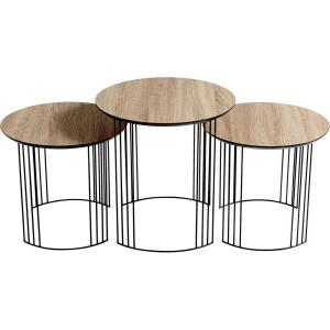 Electric Moon - 21.5 Inch Nesting Table (Set Of 3)