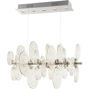 Discus - Five Light Pendant - 23 Inches Wide by 39 Inches Long