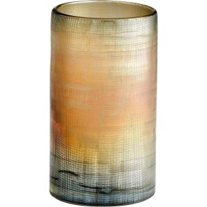 "Gilded Grid - 9.75"" Medium Vase"