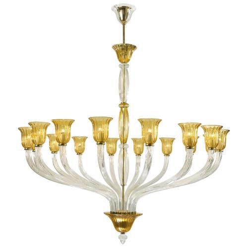 Cyan lighting 6509-16-00 Vetrai - Sixteen Light Chandelier