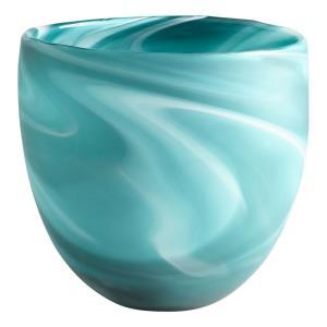 Sea Swirl - 9 Inch Round Vase