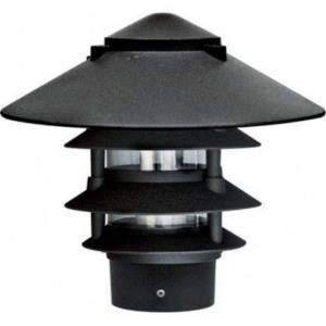 "10"" 6W Filament LED 4-Tier Pagoda Light with 3"" Base"