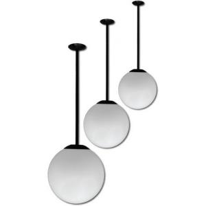 "16"" One Light 26W GU24 Ceiling Globe Light with 12"" Drop"