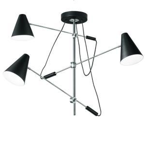 Mid Century Modern - Three Light Pendant with Adjustable Arms