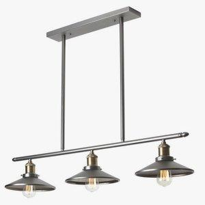 Three Light Horizontal Pendant