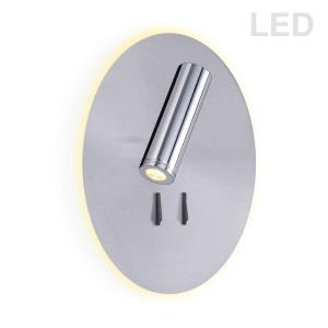 "8.75"" 15W 2 LED Wall Sconce with Backlight"