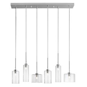 Industrial Chic - Six Light Horizontal Pendant