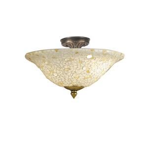 Blake Jeweled - Three Light Flush Mount