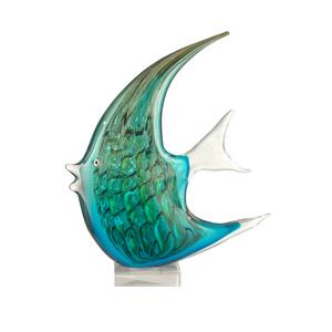 "Art Glass Angel Fish - 16"" Decorative Figurine"