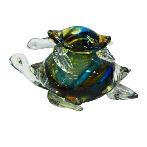"4"" Colorful Sea Turtle Figurine Sculpture"