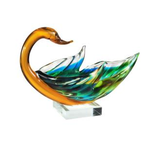 "9.5"" Swan Bowl Sculpture"