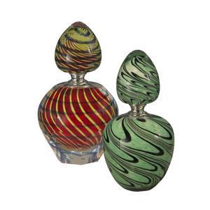 """5.5"""" 2-Piece Swirl Perfume Bottle"""