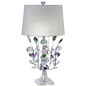 Vibrant Blossom - Two Light Table Lamp
