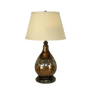 Mosaic Glass Dome - One Light Table Lamp
