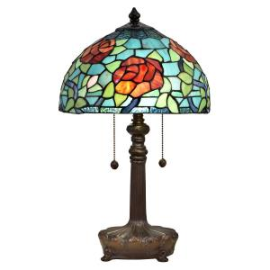 Crimson Rose - Two Light Table Lamp