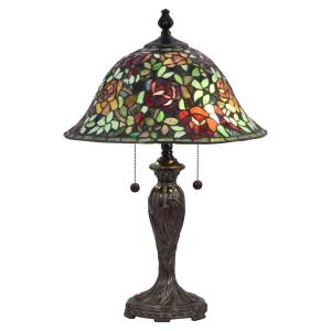 Rose Collage - Two Light Table Lamp