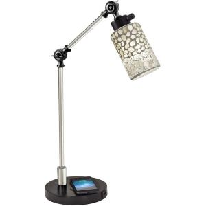 Alps - One Light Desk Lamp with Wireless/USB Charger