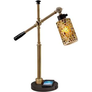 Knighton - One Light Desk Lamp with Wireless/USB Charger