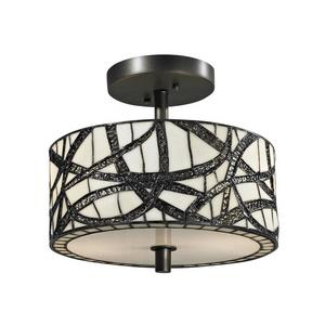 Willow Cottage - Two Light Semi-Flush Mount