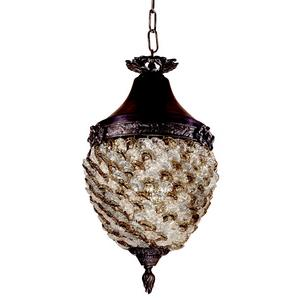 Glass Flower - One Light Hanging Lantern
