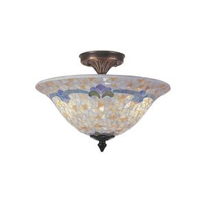 Johana Mosaic - Three Light Flush Mount