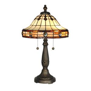 Jeweled Mission - Two Light Table Lamp