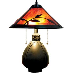 Fall Leaves - Two Light Table Lamp