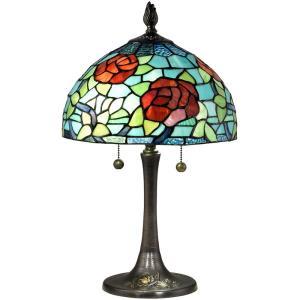 Crimson Rosette - Two Light Table Lamp