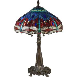 Wandering Dragonfly - Three Light Table Lamp