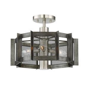 Baxter - Three Light Semi-Flush Mount