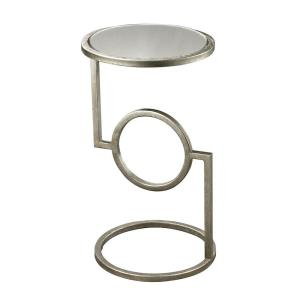 "Mirrored Top - 22"" Side Table"