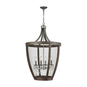 Renaissance Invention - Four Light Long Basket Pendant