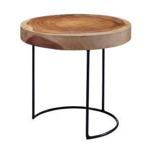 "Wood Slab - 17"" Accent Table"
