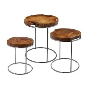 "Teak - 24"" Stacking Table (Set of 3)"