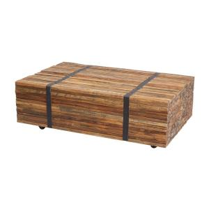 "Teak - 43"" Strapped Coffee Table"