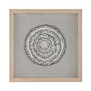 "Feather Swirl - 15.7"" Wall Art"