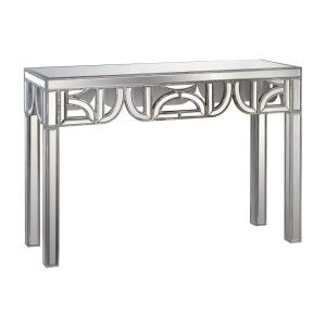 "45"" Mirrored Console With D-Shape Detailing"