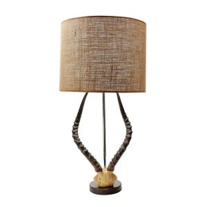 Faux Horn - One Light Table Lamp