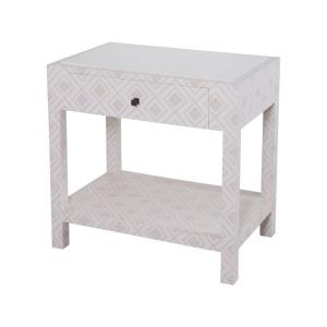 "Kent - 30.5"" Fabric Wrapped Bedside Table"