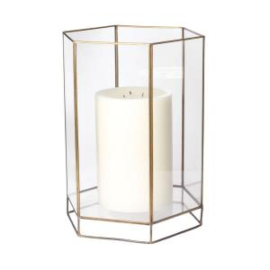 """Glass Oriel - 15"""" Large Hurricane Candle Holder"""