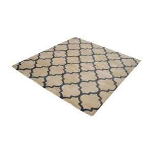 Wego - 16 Inch Square Handwoven Printed Wool Rug