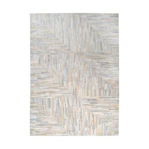 Karim - 16x16 Inch Hand Stitched Leather Patchwork Rug