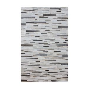 Joico - 16x16 Inch Hand Stitched Leather Patchwork Rug